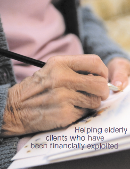older clients Twenty-two masters level social work students who had worked with older clients  in fieldwork were asked about their experiences this was a qualitative.