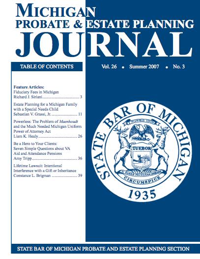 Michigan Probate Estate Journal