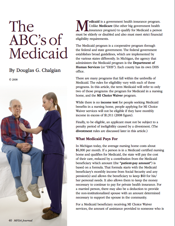 The ABC's of Medicaid