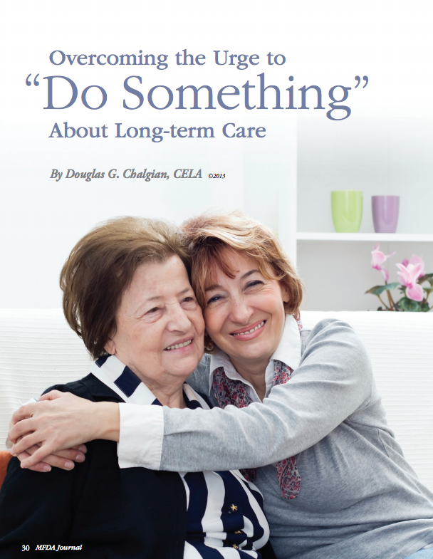 Overcoming the urge to do something about long term care
