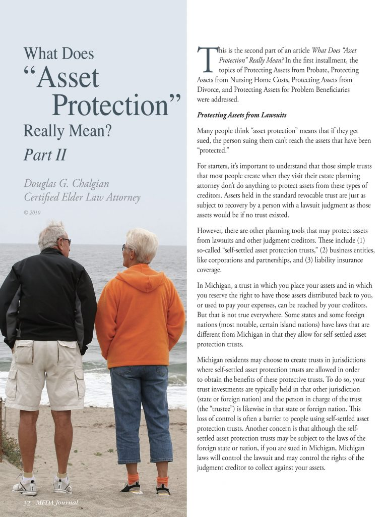 What does Asset protection really mean?
