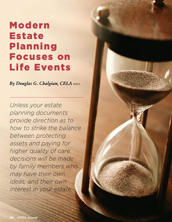 Modern Estate Planning Focuses on Life Events