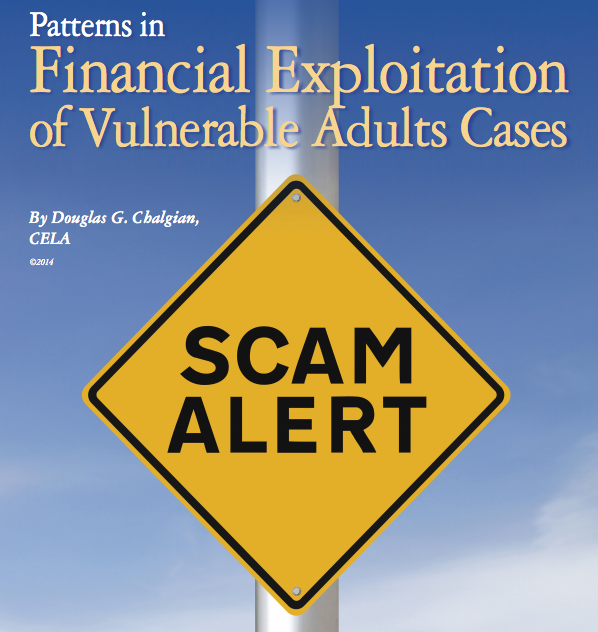 Patterns in financial exploitation of vulnerable adults cases