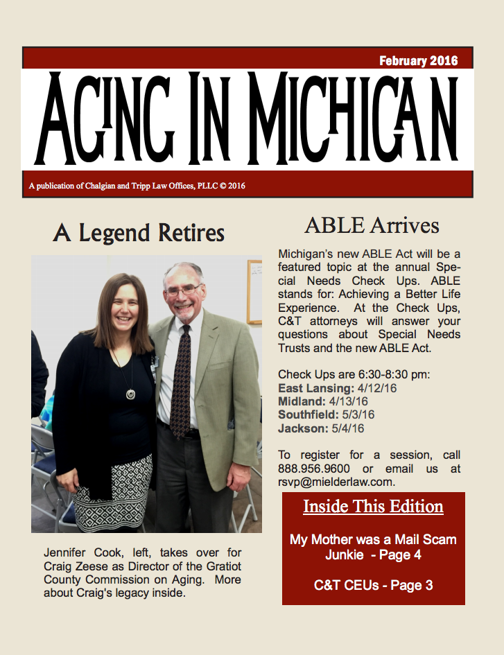 Aging in Michigan – February 2016