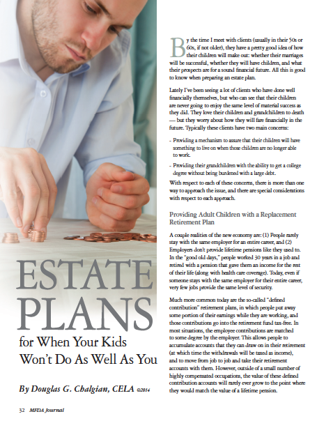 Estate Plans for When Kids Don't do As Well As You