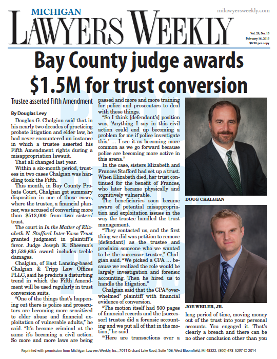 Bay County judge awards $1.5M for trust conversion