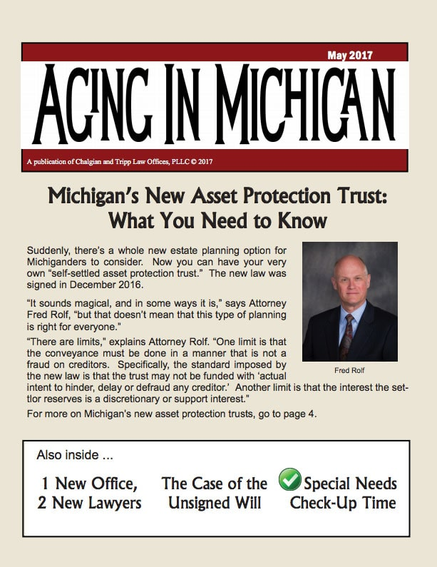Aging in Michigan May 2017