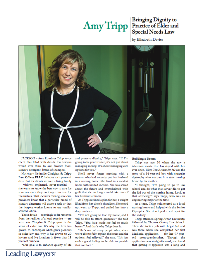 Amy Tripp - Leading Lawyers Magazine