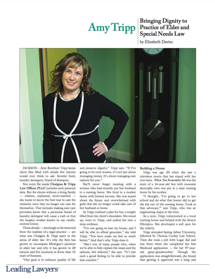 Amy Tripp - Leading Lawyers Magazine