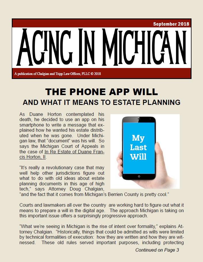 Aging in Michigan Sept 2018