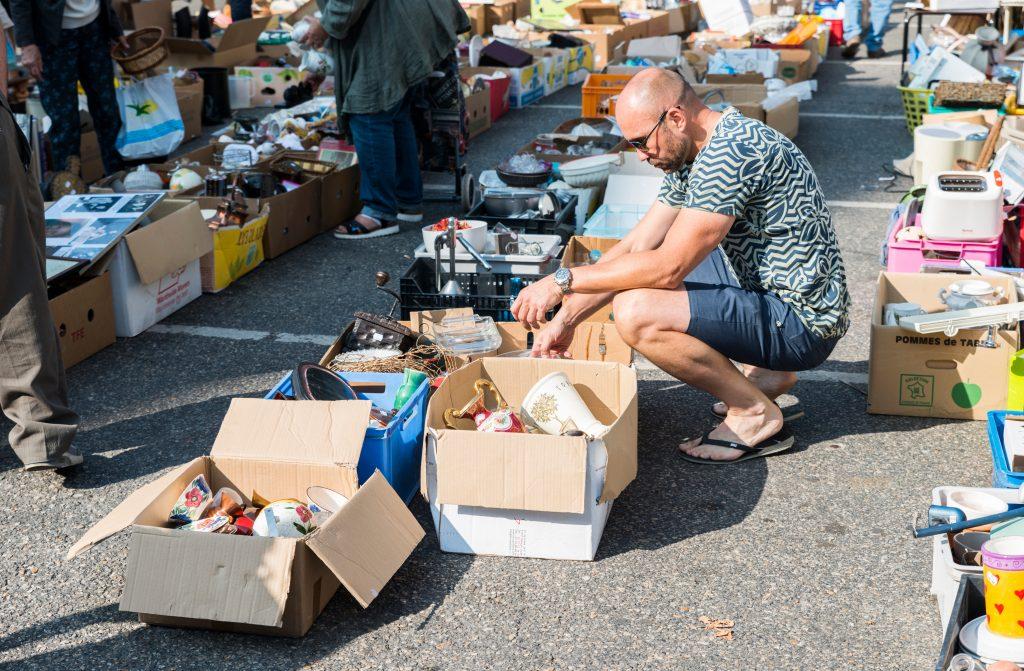 Man at flea market