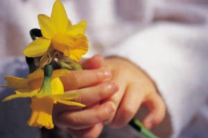 hand w flowers